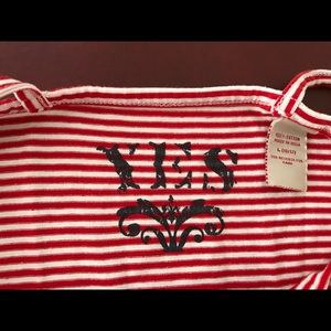 YES Shirts & Tops - 👚 YES girl's red-white stripe cami tank top NEW